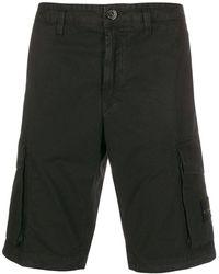 Stone Island Cargo-Shorts mit Logo - Schwarz