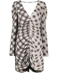 Eckhaus Latta Printed Draped Dress - Multicolour