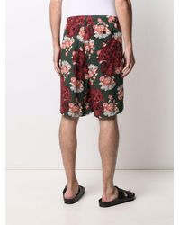 Undercover Rose-print Bermuda Shorts - Green