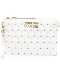 Versace Jeans Couture Клатч С Заклепками И Логотипом - Белый