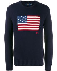 Polo Ralph Lauren Flag Knitted Jumper - Natural