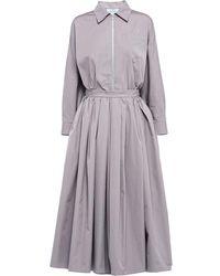 Prada フレア シャツドレス - グレー