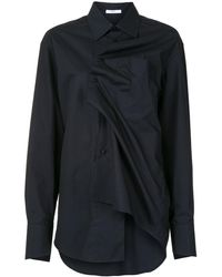 Aganovich ツイストフロント シャツ - ブラック