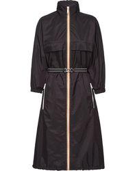 Prada Regenjas Met Afneembare Capuchon - Zwart