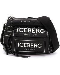 Iceberg Поясная Сумка С Логотипом - Черный