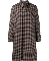 Paul Smith Checked Trench Coat - Black
