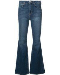 L'Agence Schmale Bootcut-Jeans - Blau