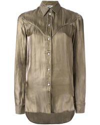 MM6 by Maison Martin Margiela - Cutaway Collar Shirt - Lyst