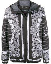 Dolce & Gabbana Bomberjack Met Bandana Print - Zwart