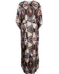 Bazar Deluxe Robe-caftan à motif géométrique - Multicolore