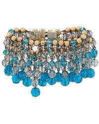 Dior フリンジ ブレスレット - ブルー