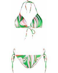 Emilio Pucci グラフィック ホルターネック ビキニトップ - グリーン