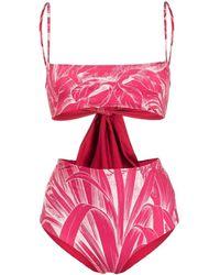 RED Valentino Bikini con stampa - Rosa