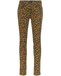 R13 X Alison Mosshart Skinny-Jeans mit Leo-Print - Grün