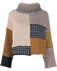 Eckhaus Latta パッチワーク セーター - ブラウン