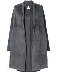 Manzoni 24 - Mink Fur Fitted Coat - Lyst