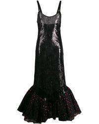 The Attico ラッフルヘム ドレス - ブラック