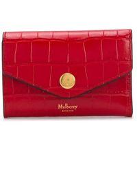 Mulberry Компактный Картхолдер С Тиснением - Красный