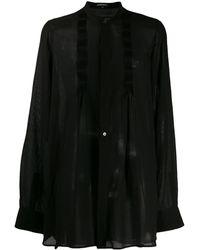 Ann Demeulemeester Sheer Shirt - Black