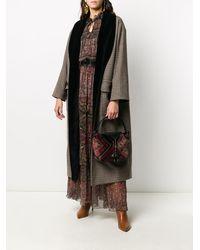 Etro Пальто С Завязками - Многоцветный