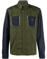 Mr & Mrs Italy Camisa con panel en contraste - Verde