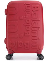 Baldinini Maleta con logo - Rojo