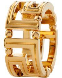 Versace Кольцо С Декором Greca - Металлик