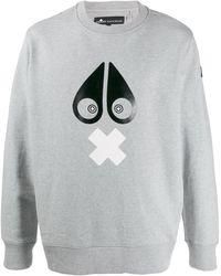 Moose Knuckles グラフィック スウェットシャツ - グレー