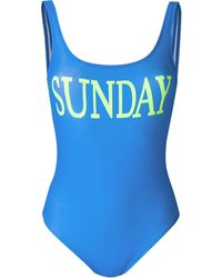 Alberta Ferretti Rainbow Week Swimsuit - Blue