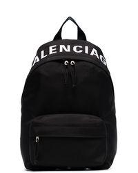Balenciaga Маленький Рюкзак Wheel С Логотипом - Черный