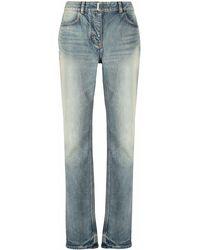 Givenchy ストーンウォッシュ ストレートジーンズ - ブルー