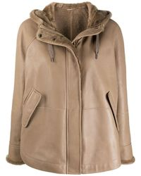 Brunello Cucinelli Куртка С Капюшоном - Коричневый