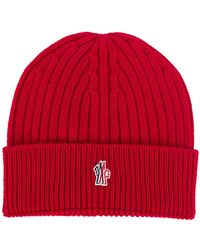 6c5297bcb50 Lyst - Moncler Grenoble Ribbed-knit Wool Beanie Hat in Black for Men