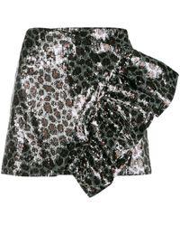 Laneus スパンコール ミニスカート - ブラック