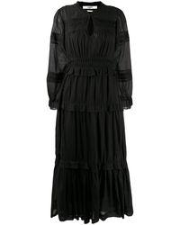 Étoile Isabel Marant シャーリング ペプラムドレス - ブラック