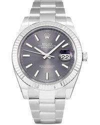 Rolex 2020 ungetragene 'Datejust' Armbanduhr, 41mm - Grau