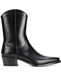 DSquared² レザー ブーツ - ブラック