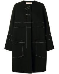 Marni - Contrast-stitch Coat - Lyst