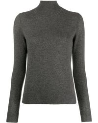 Theory Turtle Neck Cashmere Jumper - Grey
