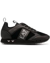 EA7 Кроссовки С Логотипом - Черный
