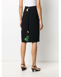 N°21 フローラル スカート - ブラック