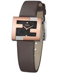 Fendi Ff ロゴ 腕時計 - ブラック