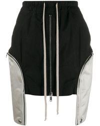 Rick Owens ドロップポケット ミニスカート - ブラック