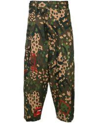 9b8ce580c69e4 Lyst - Alexander McQueen Military Kick-back Trousers in Black