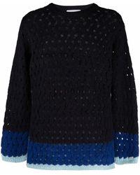 Koche Open-knit Sweater - Blue