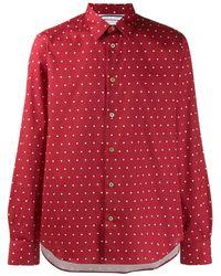 Paul Smith Рубашка Узкого Кроя В Горох - Красный