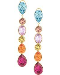 Shourouk Cascade Drop Earrings - Multicolour