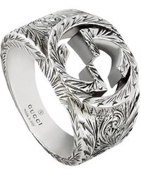 Gucci Interlocking G Ring - Metallic