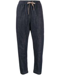 Brunello Cucinelli Denim Tapered Trousers - Blue