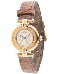 Cartier Pre-owned Vermeil Round Quartz Wrist Watch - Multicolour